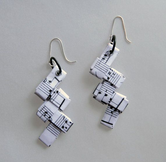 Hey, I found this really awesome Etsy listing at https://www.etsy.com/listing/199209865/music-jewelry-music-earrings-eco-paper