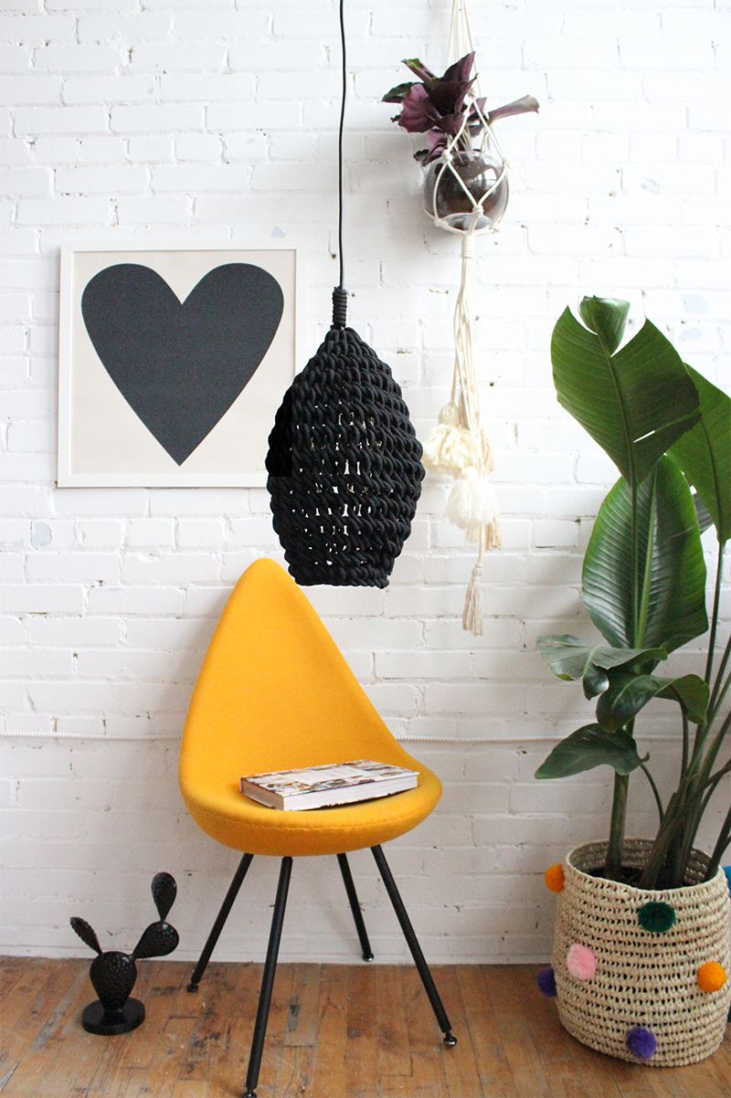 Handmade Pendant Lamp, Black Cocoon - Babasouk