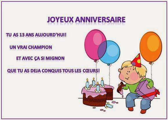 Sms D Anniversaire Pour Bebe Awesome Texte Carte Anniversaire 13 Ans Texte Carte Anniversaire Carte Anniversaire Texte Anniversaire Ado