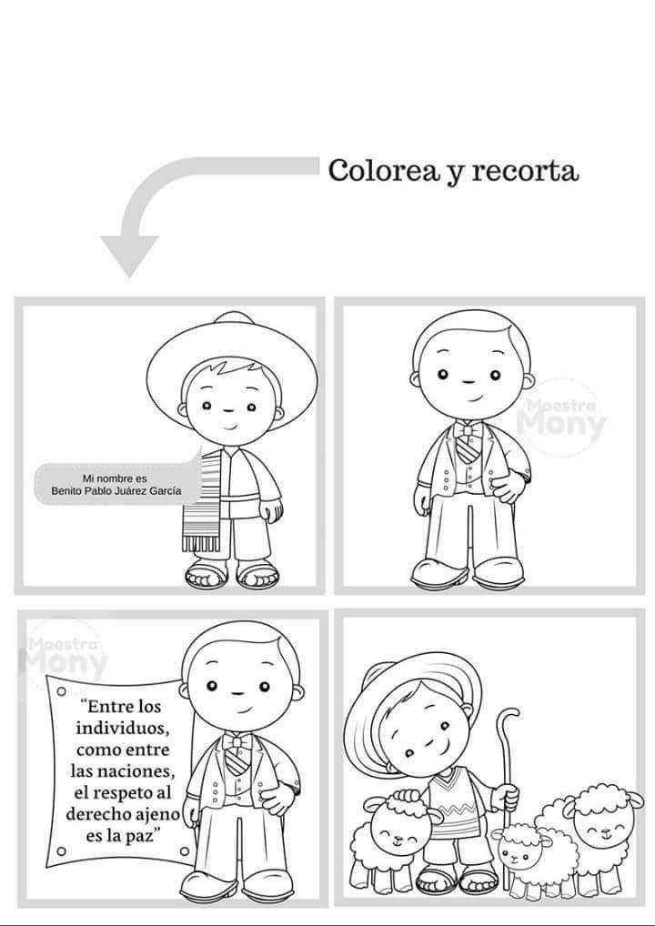 Dibujos Benito Juarez Para Ninos Actividades Escolares Actividades Graficas