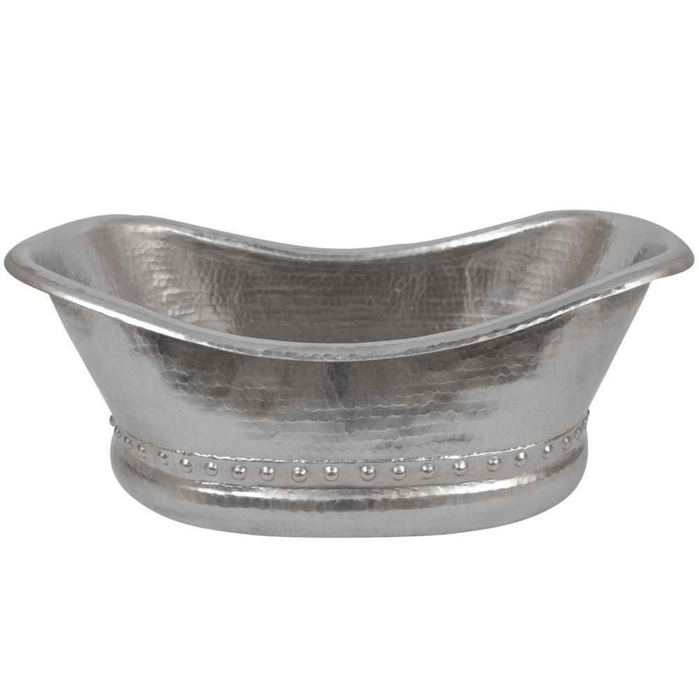 Premier Copper Products Bath Tub Hammered Copper Vessel Sink in ...