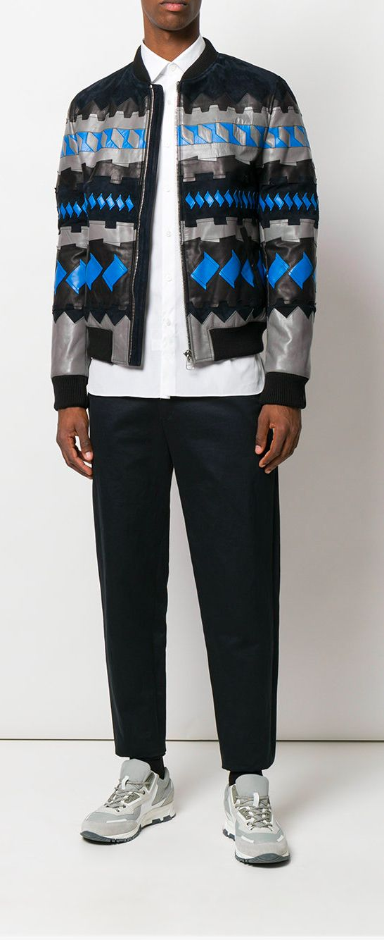 a1a81ffde261 Lanvin Geometric Bomber Jacket in 2019 | Swag Over Matter | Jackets ...