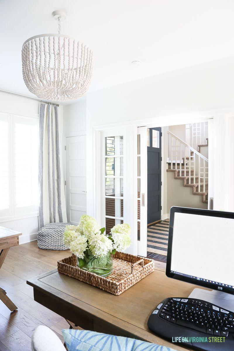 White Oak Hardwood Floors + Office Reveal   Oak hardwood flooring ...