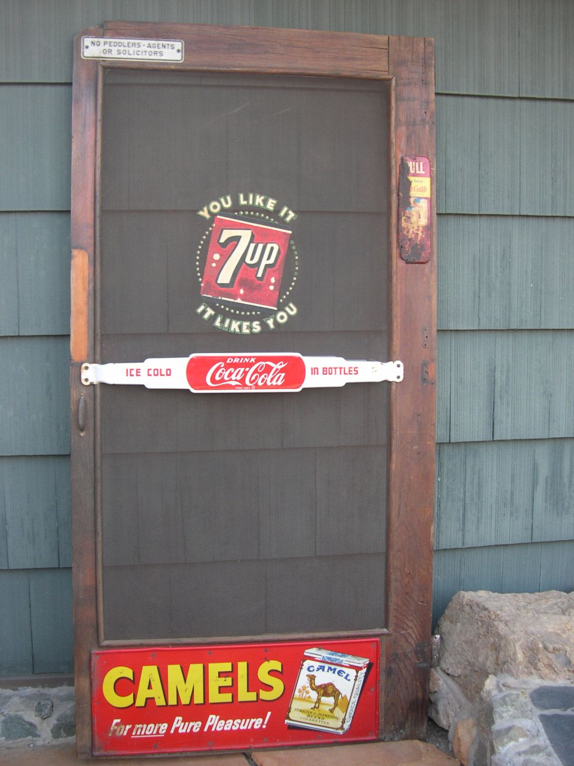 I Remember The Push Bar Advertising Signs The Small Town Stores Used