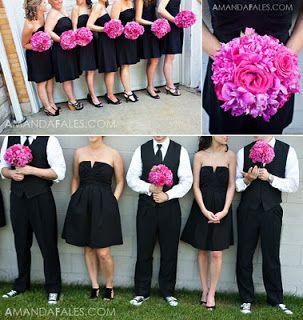 e0b73b5d28a12 Decoração do Casamento  Preto e Pink   Casamento   Casamento ...