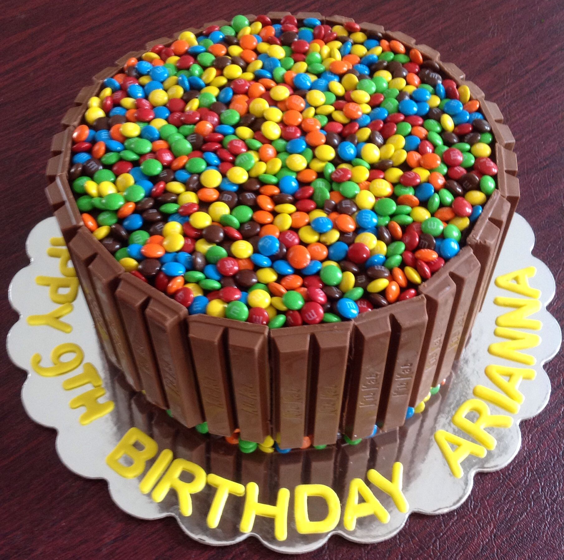 A Candy covered birthday cake Vanilla cake Oreo buttercream