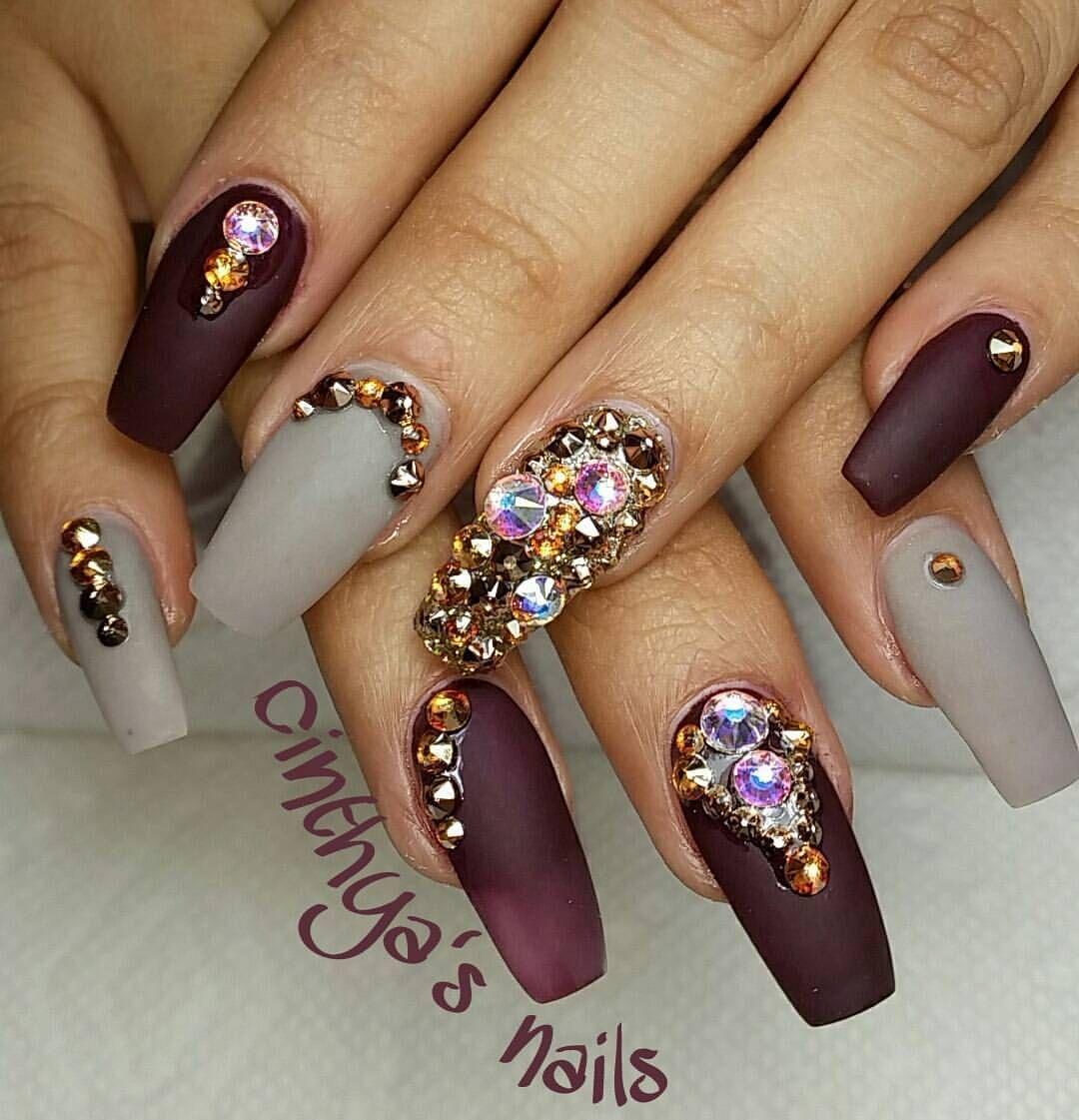 ♡ ↬@queenboldon ♬ ♡ | Nail Designs | Pinterest | Nail jewels ...