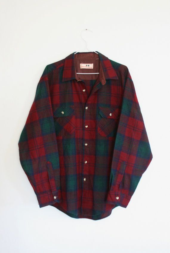 90s Vintage Large Plaid Flannel Long Sleeve Button Up by 19LA