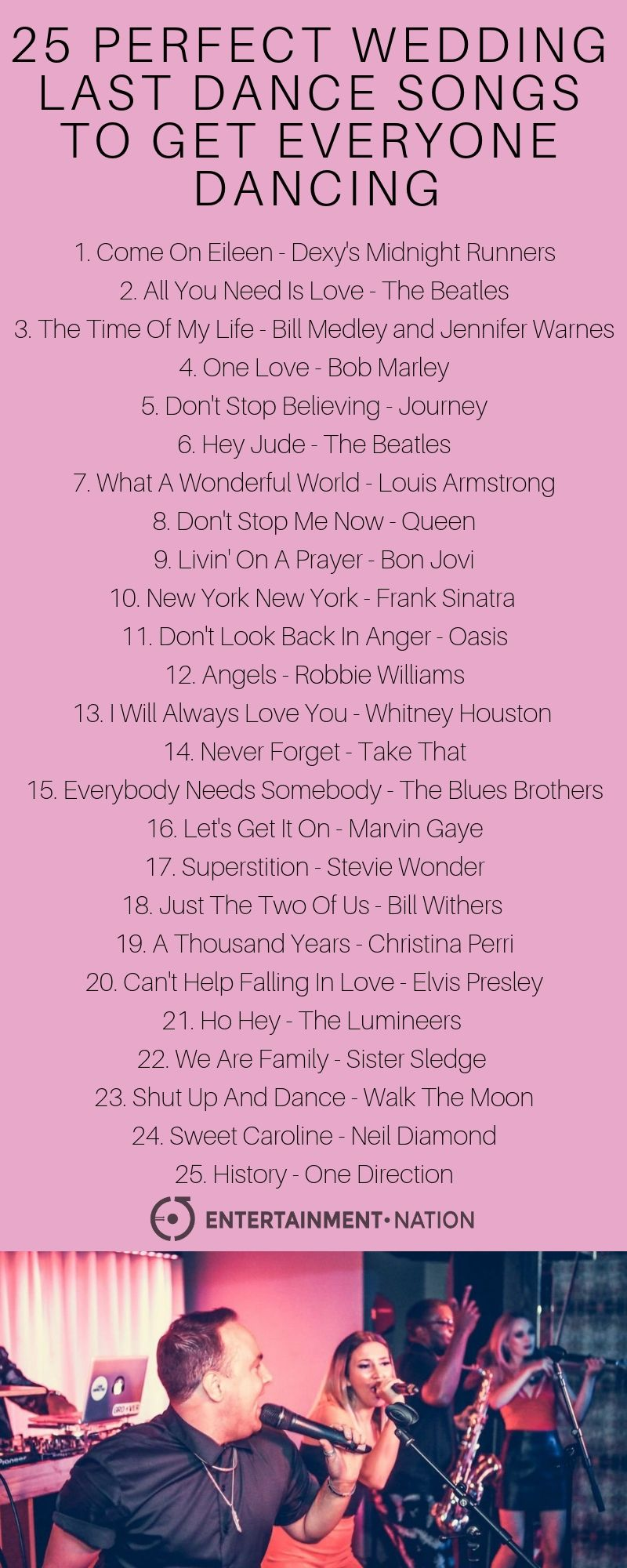 25 Perfect Wedding Last Dance Songs To Get Everyone Dancing