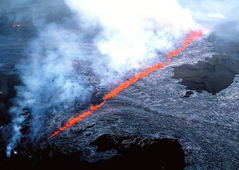 "1992 Fissure Eruption/ Curtain of Fire.... From ""How Volcanoes Work."" A great website."