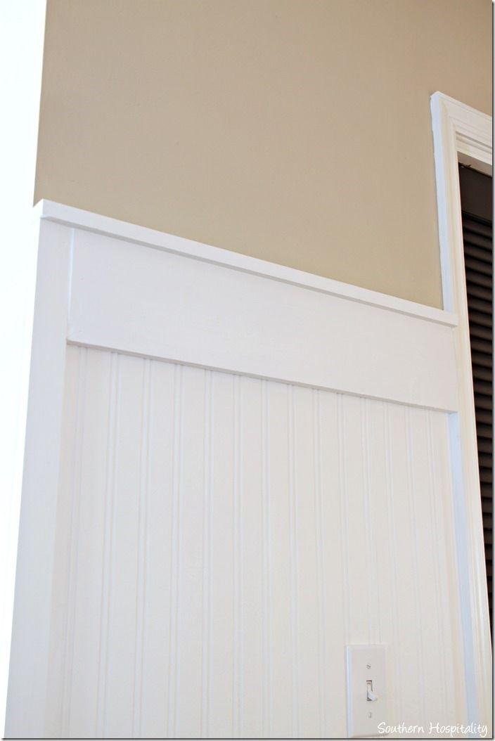 Charming 1 X 6 Chair Rail Part - 14: Beadboard 3D Wallpaper