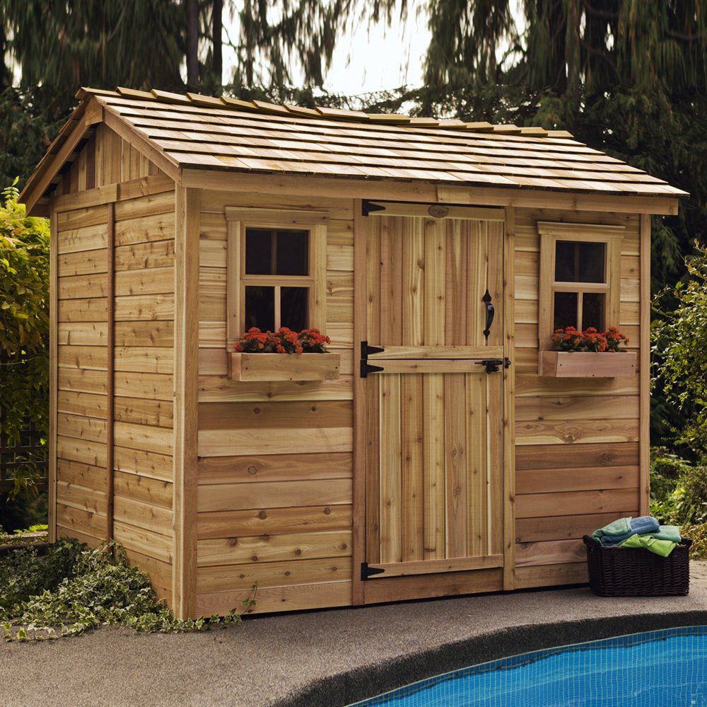 outdoor living today cb96 9 ft x 6 ft cedar cabana garden on lowes paint sale today id=62255