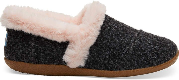 c20b5b4dc9e1 Dark Grey Speckled Felt Women s Slippers