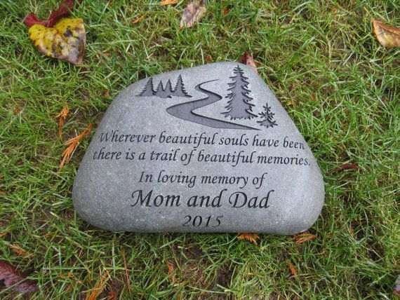 River Rock Large Personalized Garden Stone For Memorial Etsy In 2020 Personalized Memorial Stones Personalized Garden Stones River Rock