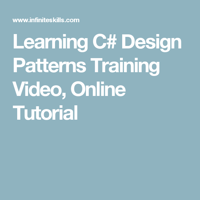 Learning C Design Patterns Training Video Online Tutorial With