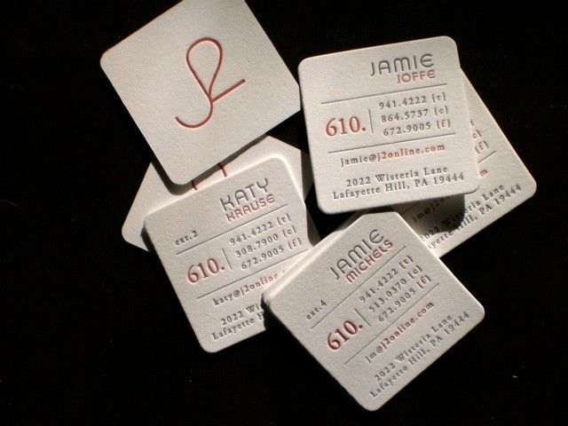 letterpress square business cards | Letterpress Love | Pinterest ...