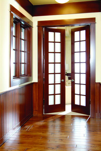 Interior Doors | Double French Doors For A Room At The End Of A Hallway |