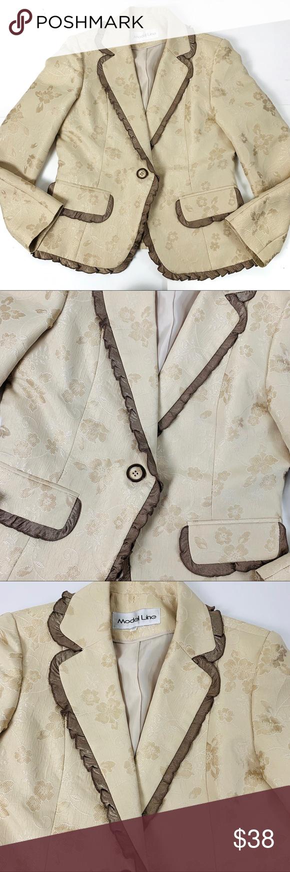 Gorgeous Vintage Blazer with Gold details