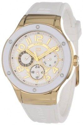 Relógio Tommy Hilfiger Women's 1781327 Sport Lux Multi-Eye Crystals on Bezel Watch #Relogios #TommyHilfiger