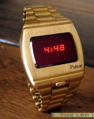 70s Gold Watch With The Red L E D Display These Were Really