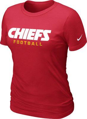 Kansas City Chiefs Women S Red Nike Team Pride T Shirt Kansas