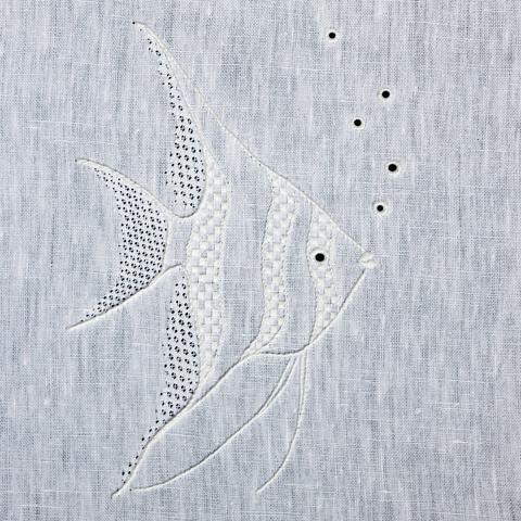 'Angelfish' Whitework Embroidery Kit