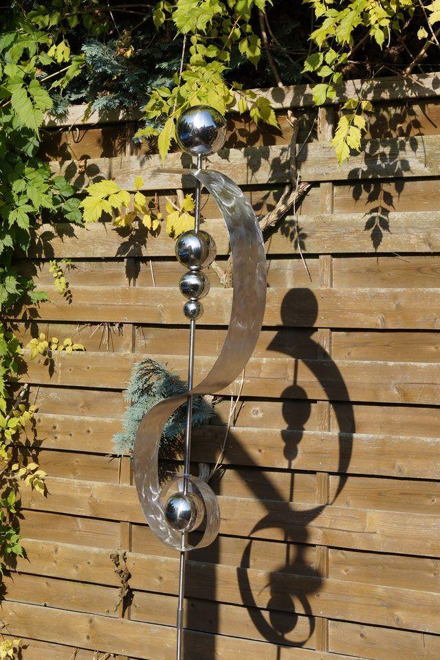 Gartenstecker - Edelrost - Gartendeko Rost - Edelstahl- Gartenkunst von Deco-ART-Külbs.