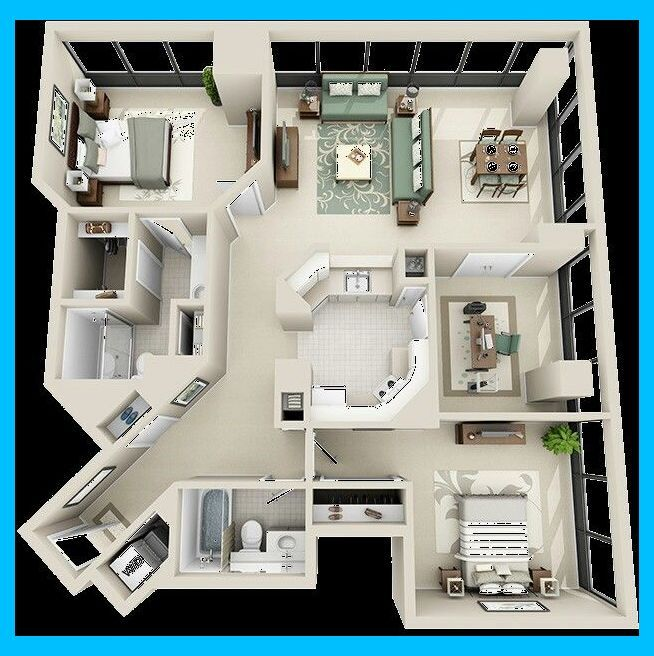 Disenos Casas House Layouts 4 Bedroom Living Room Layout With Tv All Carpet Living Room House Floor Plans Sims House Design Small House Layout