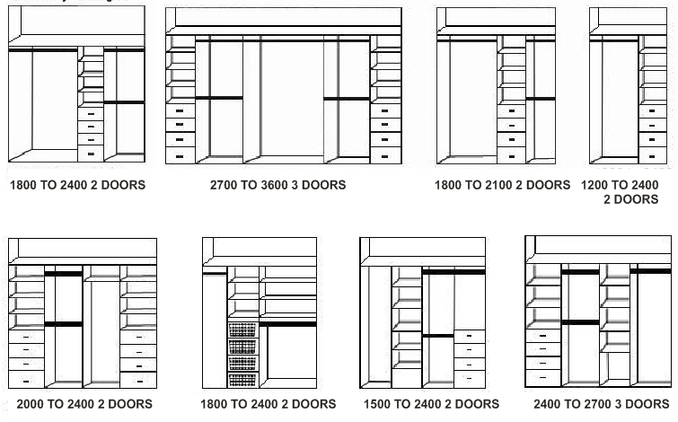 Wardrobe Plan Elevation Section : Home build wardrobe design and office furniture