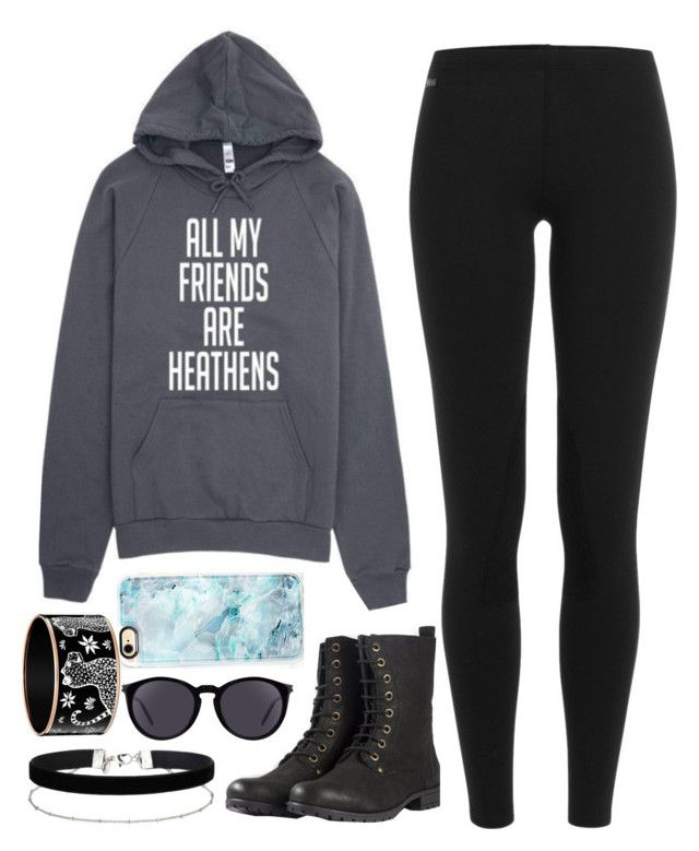 """All my friends are heathens 🌑💙"" by feel-like-infinity ❤ liked on Polyvore featuring Polo Ralph Lauren, Casetify, Yves Saint Laurent and Miss Selfridge"