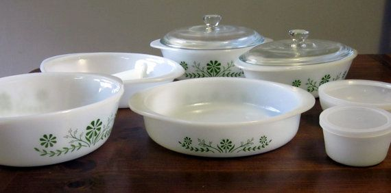 Glasbake Ovenware | Vintage Glasbake Primrose Dream 31 Piece Ovenware 1970s in Original ...