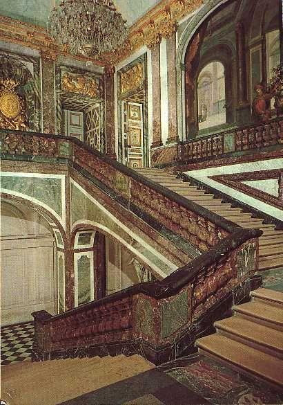 Escalier- Versailles | Versailles | Pinterest | Escaliers, Châteaux ...