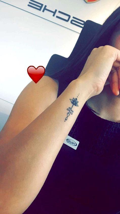 Lotus Unalome Tattoo Ink Tattoos Unalome Tattoo Wrist Tattoos