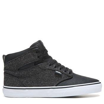 5908294342d1 Vans Men s Atwood High Top Sneakers (Black White Tx)