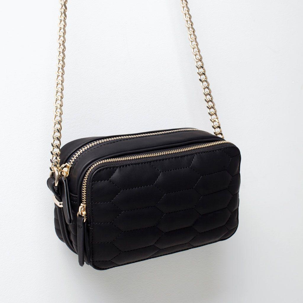 Bolsa De Ombro Zara : Imagem de bolsa tiracolo acolchoada da zara let her