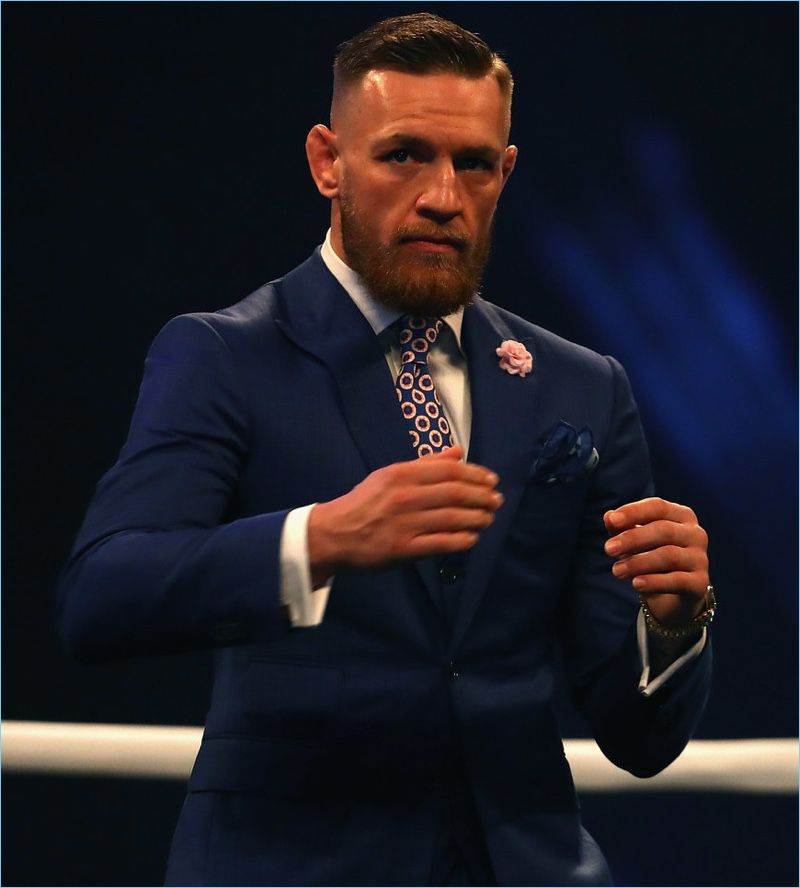 Conor Mcgregor Covers Gq Style Talks Fame Value Conor Mcgregor Suit David August Suits Conor Mcgregor