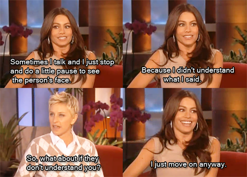 Sofia Vergara Funny Quotes: Sophia And Ellen So Funny Together! Smart Move To Sign