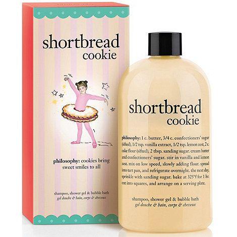 Philosophy Shortbread Cookie Shampoo Shower Gel Bubble Bath 480ml At Debenhams Com Shampoo Shower Gel Bubbles