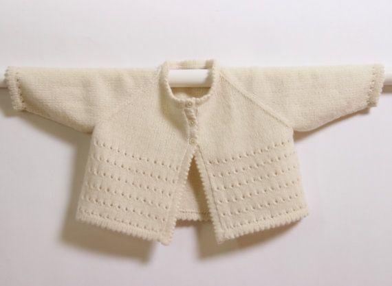 bde2483d3 Baby Cardigan   Knitting Pattern Instructions in English   PDF ...