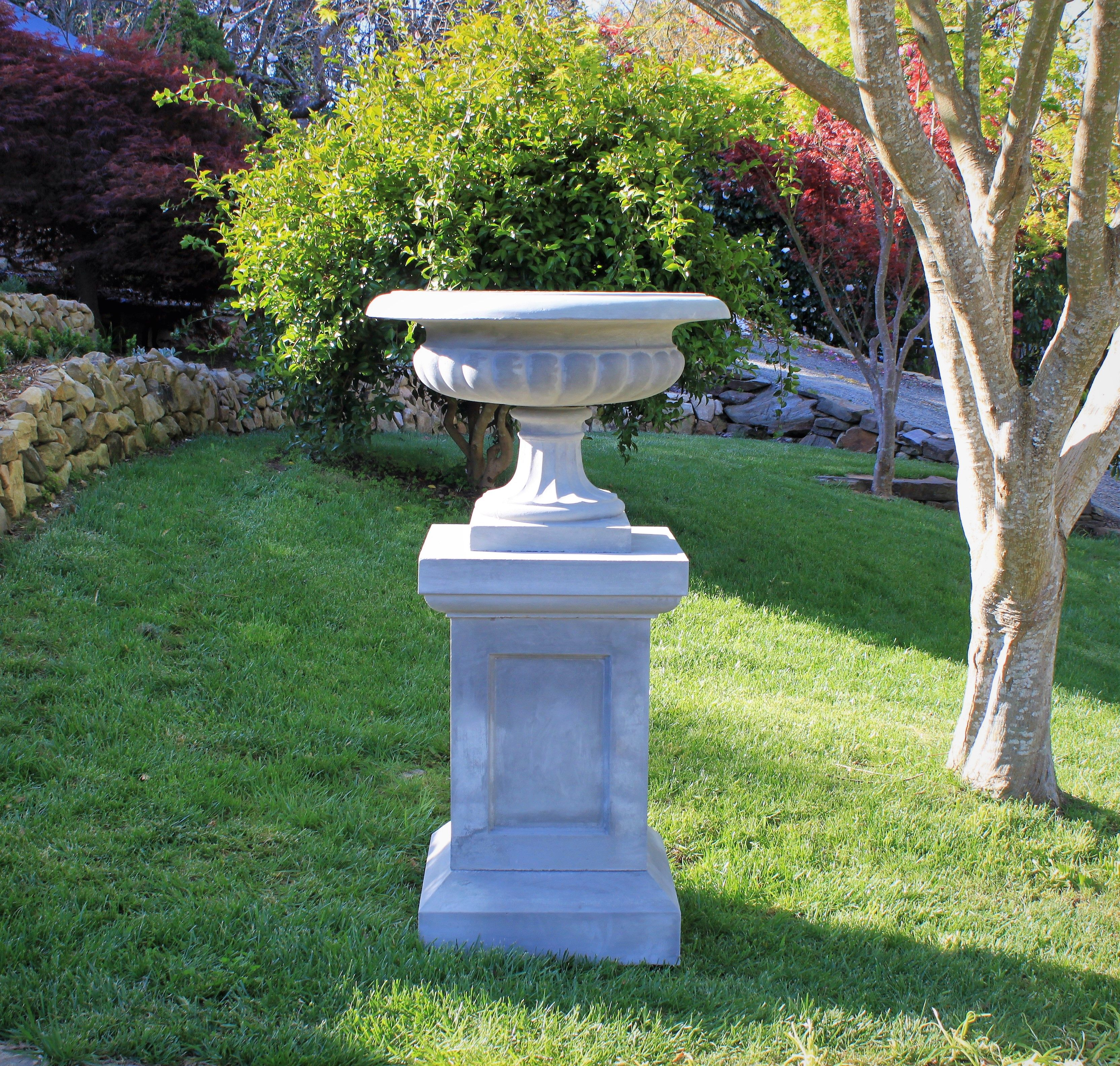 appointed trianon for vase home white in garden pedestal well luxuries optional house the with