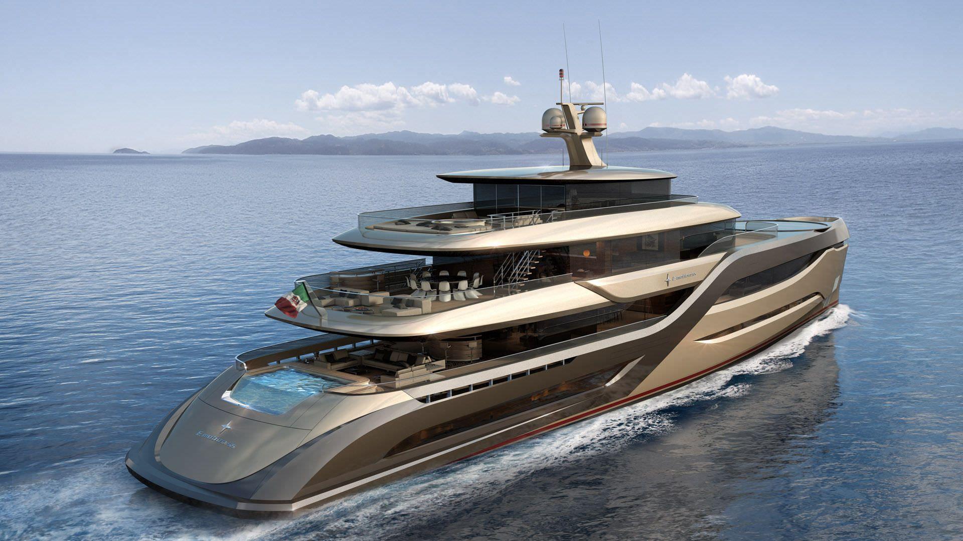 Aluminium Mega Yacht Semi Displacement Hull