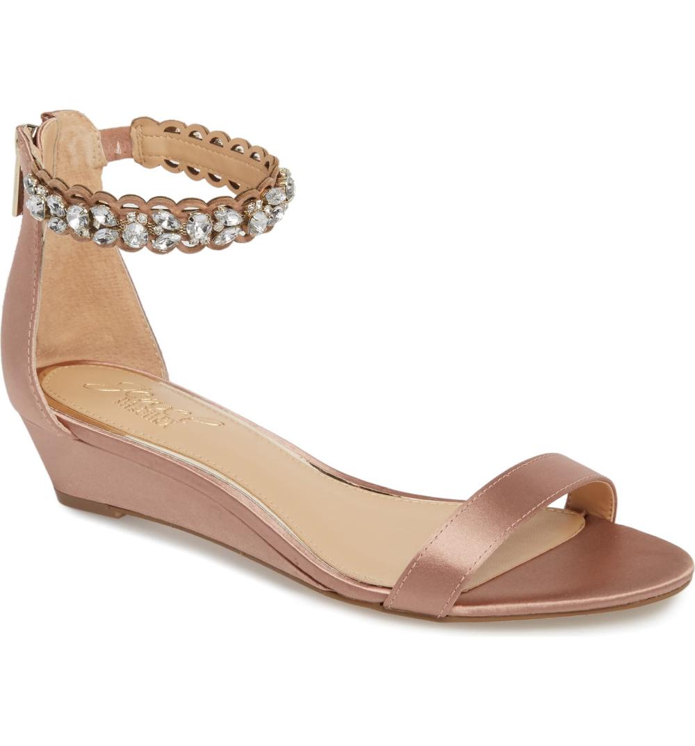 Jewel Badgley Mischka Ginger Wedge Sandal (Women