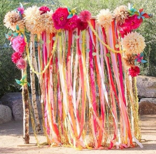 13 amazing ceremony backdrop ideas ribbon wedding decoration and 13 amazing ceremony backdrop ideas junglespirit Choice Image