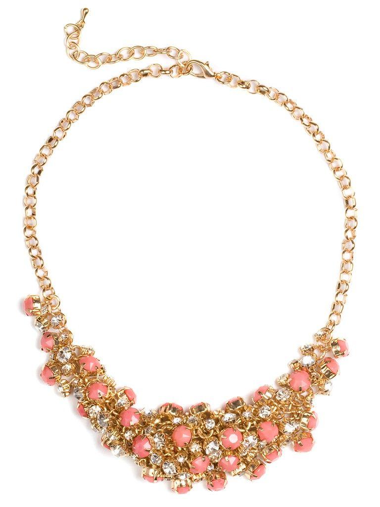 Pink Cluster Bib - Necklaces - Categories - Shop Jewelry   BaubleBar