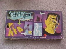 FRANKENSTEIN MYSTERY GAME Hasbro 1963, all these Hasbro games are tough to find.