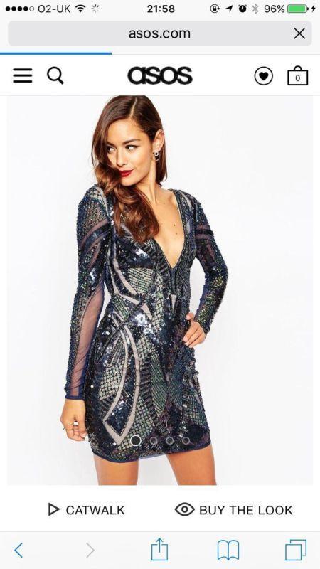 26771726193 Asos red carpet occasion sequin dress