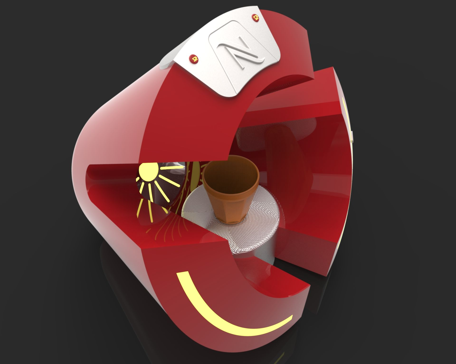 Nespresso CafeInn Coffee Maker - KeyShot,STEP / IGES,CATIA - 3D CAD model - GrabCAD