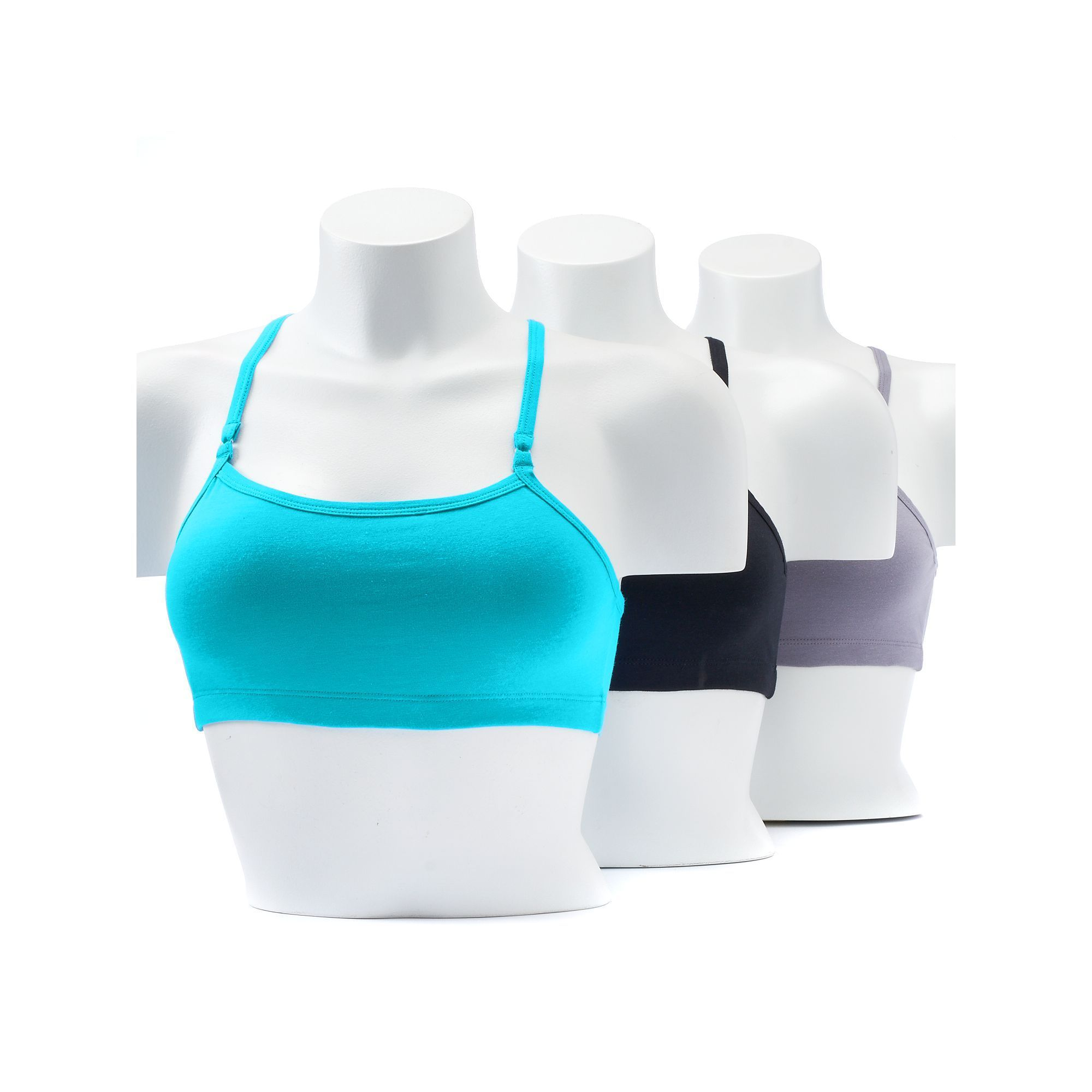 c583175a7aa92 Fruit of the Loom 3-pack Strappy Racerback Sports Bras 3DSCSCT ...