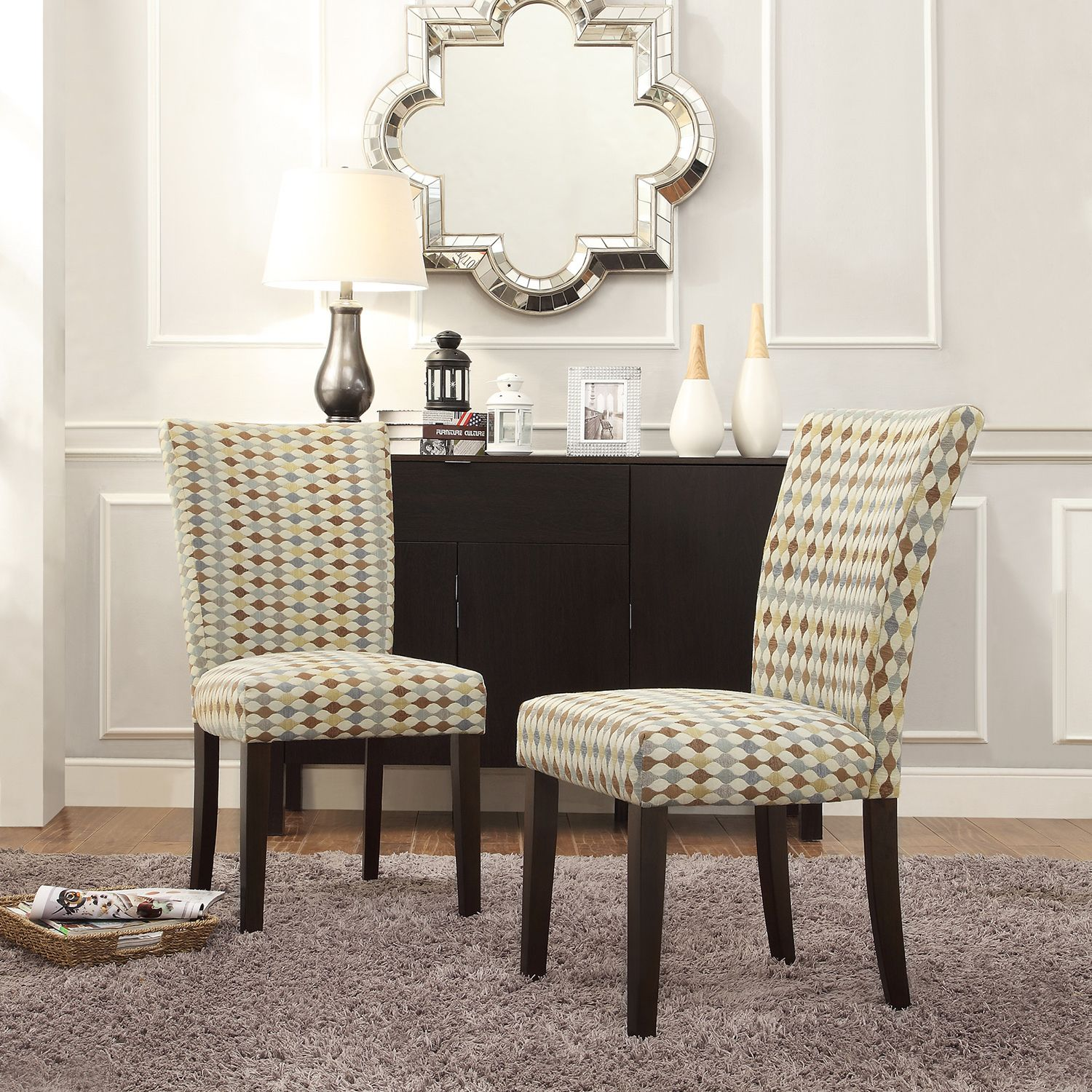 INSPIRE Q Catherine Diamond Impressions Parsons Dining Chair (Set of 2) by  iNSPIRE Q