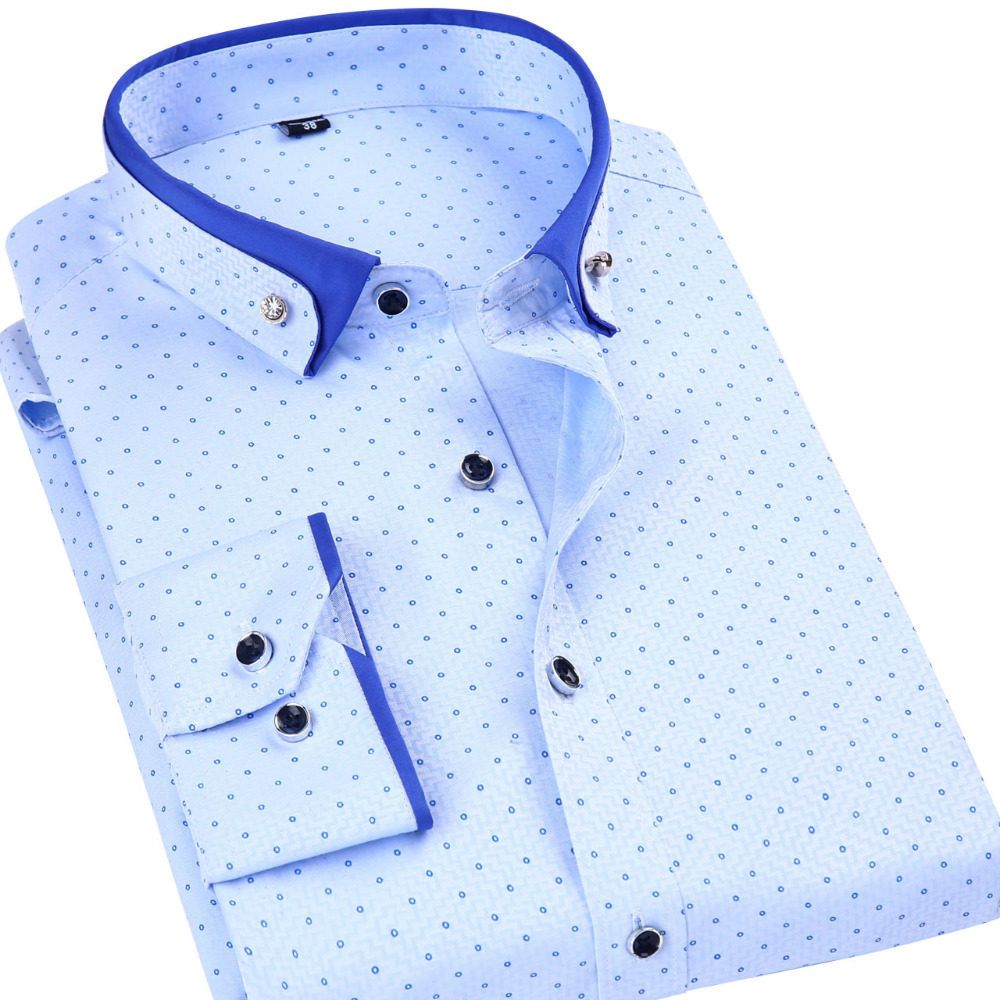 Camisas para Hombre Regular Fit, Camisa de Manga Larga con